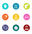 finish the job icons set flat style vector image vector image