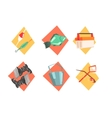 Fishing Kit Elements In Isolated Icons vector image vector image