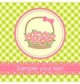 floral gift basket background vector image vector image