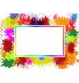 frame on splash color vector image