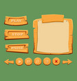 game wooden interface elements set vector image