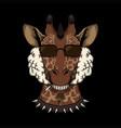 giraffe head smoke vector image vector image
