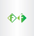 green letter f icons design vector image