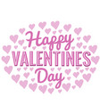 happy valentines day in oval shape vector image