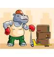 Hippopotamus loader vector image vector image