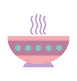 hot soup bowl food on white background vector image