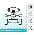 household robot simple black line icon vector image vector image