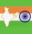 india flag and map vector image vector image