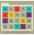 Industrial icon set Multicolored square flat vector image vector image