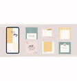 instagram social media template abstract shapes