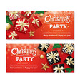 Invitation merry christmas party poster banner