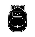 isolated bag design vector image vector image
