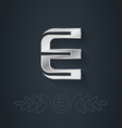 letter e template for company logo with monogram vector image vector image
