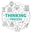 line flat circle thinking process vector image vector image
