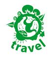 Logo journey around the planet