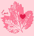 Love card decorative background vector image vector image