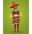 Mexican in national costume with corn vector image