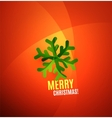 Modern Abstract Christmas Card vector image vector image