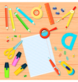 Office Supplies Background vector image