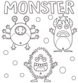Outlined monsters vector image vector image
