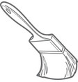 Paint brush outline vector image vector image