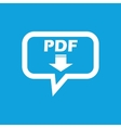 PDF download message icon vector image vector image