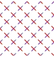 Pencil and pen pattern cartoon style vector image vector image