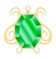 peridot jewelry mockup realistic style vector image vector image