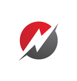 power logo template vector image vector image