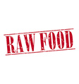 raw food red grunge vintage stamp isolated on vector image vector image