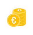 realistic euro coin icon design template gold vector image
