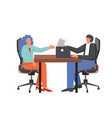 recruitment concept flat style design vector image