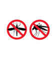 repellent mosquito stop sign icon malaria pest vector image vector image