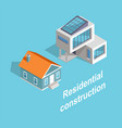 residential construction two buildins templates vector image vector image