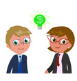 rich managers with dollar in eyes vector image