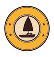 sailboat summer isolated icon vector image