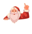 Santa Claus pointing up on a white background vector image