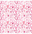 seamless hearts pattern repeating texture vector image