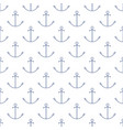 seamless maritime pattern with anchor line style vector image vector image