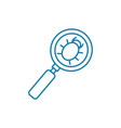 searching bugs linear icon concept searching bugs vector image