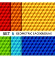 set geometric seamless backgrounds vector image