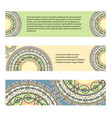 set of horizontal banners with geometric patterns vector image vector image