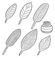 set quill and ink vector image