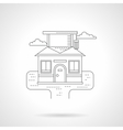 Smart house detailed flat line icon vector image vector image