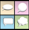 speech bubble in pop art style vector image vector image