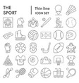 sport thin line icon set game symbols collection vector image