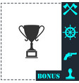 sports cup icon flat vector image vector image