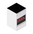 steaks in oven cooking concept vector image vector image