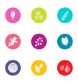 stick icons set flat style vector image vector image