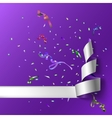 Streamers with confetti vector image